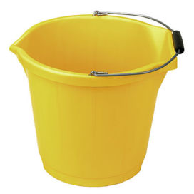 Bucket Heavy Duty 3 Gallon Yellow