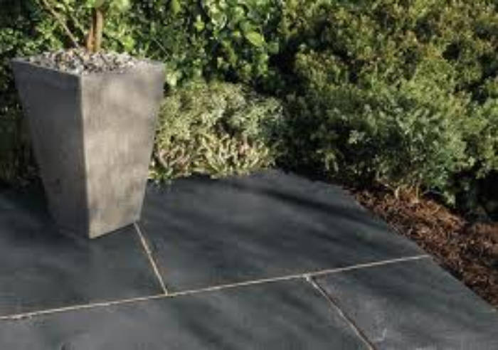 black lime stone paving