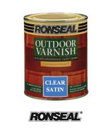 Ronseal 750ml Clear Satin Outdoor Varnish