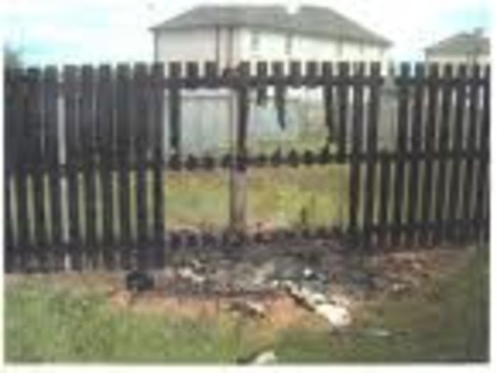 Damaged fence