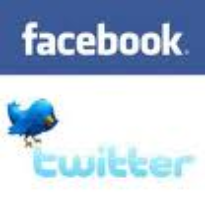 Facebook and Twitter2