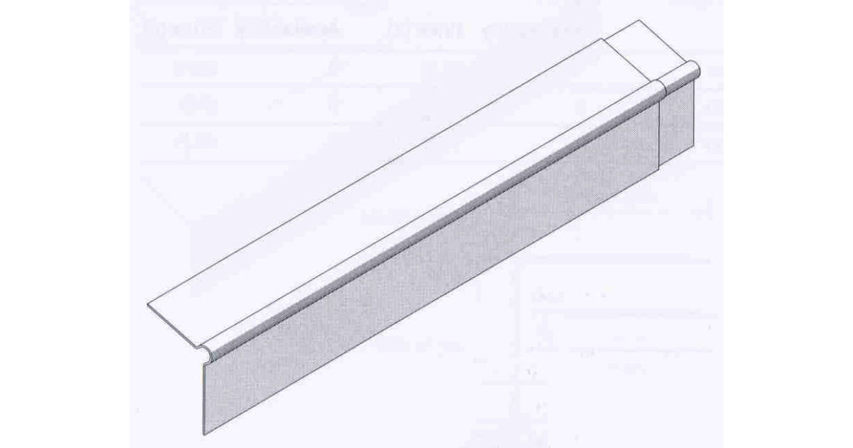 3050mm Fibre Cement Roll Top Barge Board